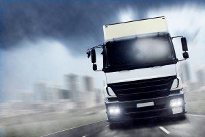 Ein Blitzer kann auch durch einen LKW ausgelöst werden.