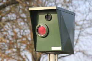 Blitzer oder Radarfalle zur Verkehrsüberwachung.