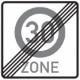 Ende einer Zonengeschwindigkeitsbeschränkung