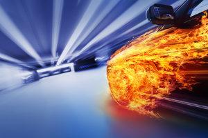 Der ESO-Blitzer misst die Geschwindigkeit.