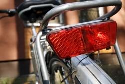 Die Fahrradbeleuchtung am Rad