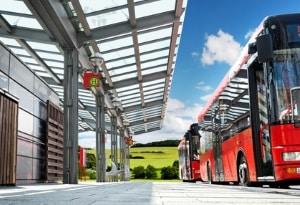 Der Führerschein DE beschreibt einen D-Klasse-Bus mit Anhänger.