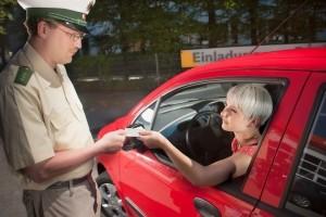 Der Führerschein kann aufgrund der Punkte in Gefahr geraten