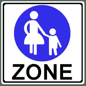 Fußgängerzone: Dieses Schild zeigt den Beginn dieses Bereiches an.