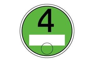 Mit der Schadstoffklasse Euro 4 erhalten Sie die grüne Plakette am Auto.