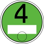 Grüne Plakette: Euro 4, Euro 3 mit Partikelfilter, Euro 5 und Euro 6