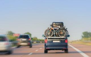 Mehrverbrauch kann auch durch Fahrradträger verursacht werden.