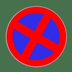 Mobiles Parkverbot: Es wird durch das Schild Nummer 283 (absolutes Halteverbot) angezeigt.