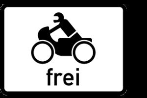 Beim Motorrad sind besondere Verkehrszeichen zu beachten.