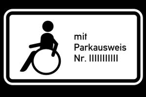 Parkausweis für Behinderte: Bestimmte Voraussetzungen sind dafür zu erfüllen.