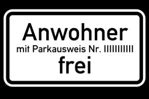 Parken nur für Anwohner: Ein Bewohnerparkplatz darf nicht von anderen genutzt werden.