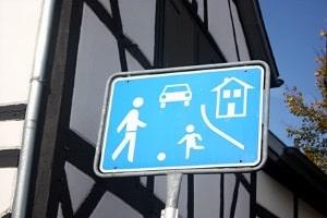 Wo ist das Parken im verkehrsberuhigten Bereich erlaubt?
