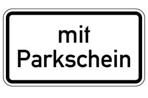 Parken nur mit Parkschein: Dieses Schild zeigt an, wann der Schein Pflicht ist.
