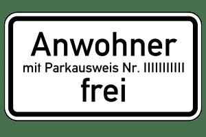 Wohnen Sie innerhalb einer Parkzone, können Sie einen Bewohnerausweis beantragen.