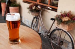 Die Promillegrenze beim Fahrrad liegt bei 1,6