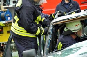 Ein Schockschaden kann nach einem Unfall entstehen.