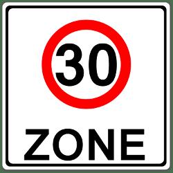 Wo befinden sich Tempo-30-Zonen?