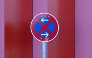 Bei Umzug: Parkplatz freihalten nur mit Genehmigung.