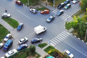 Unfallskizze: Eine Unfallzeichnung sollte Elemente aus der Umgebung enthalten.