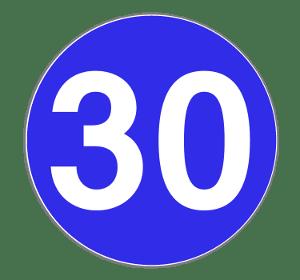 Das Verkehrszeichen zur Mindestgeschwindigkeit sieht so aus.