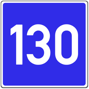 Dieses Verkehrszeichen kann die Richtgeschwindigkeit anzeigen.